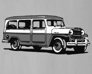 Illustration - Willys Station Wagon