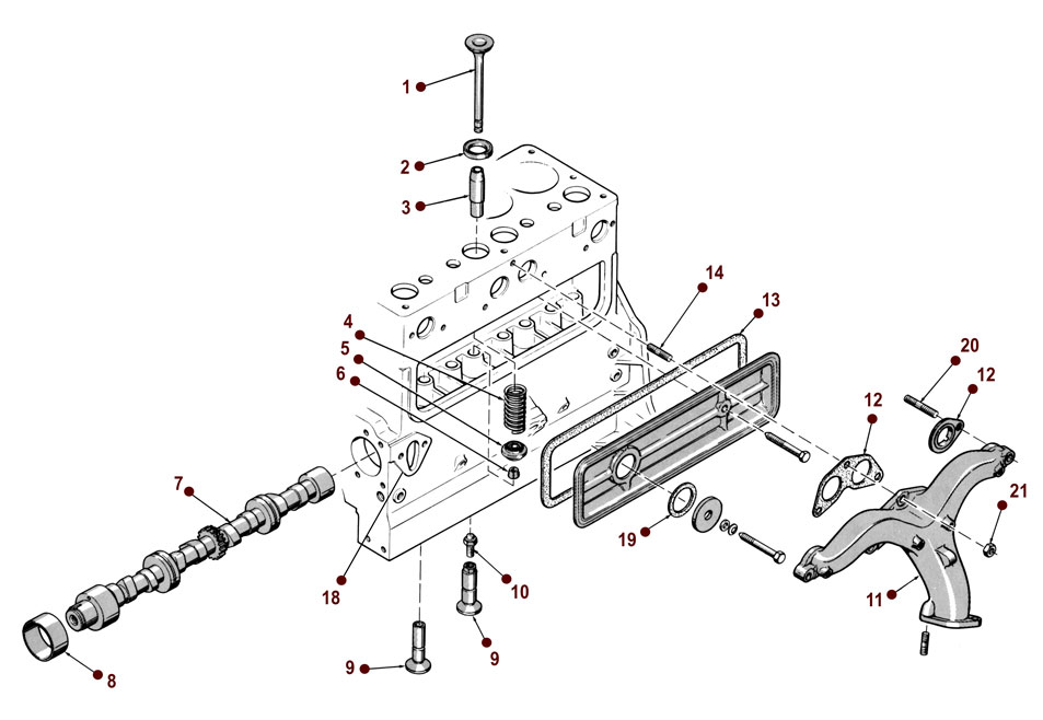 134 Engine Exhaust Valve Diagram
