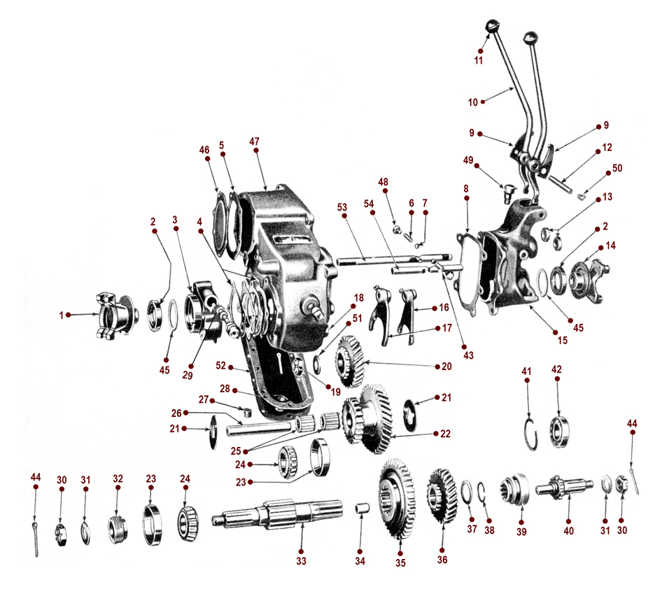 Dana 18 Transfer Case M38a1 Trailer Wiring Diagram For Receptacle