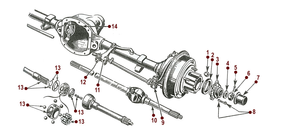 front axle assembly mb rh kaiserwillys com 1994 Ranger Front Axle Parts defender front axle parts diagram