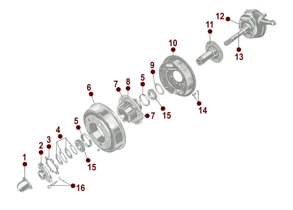 Front Axle - Wheel Connecting Parts - M38A1