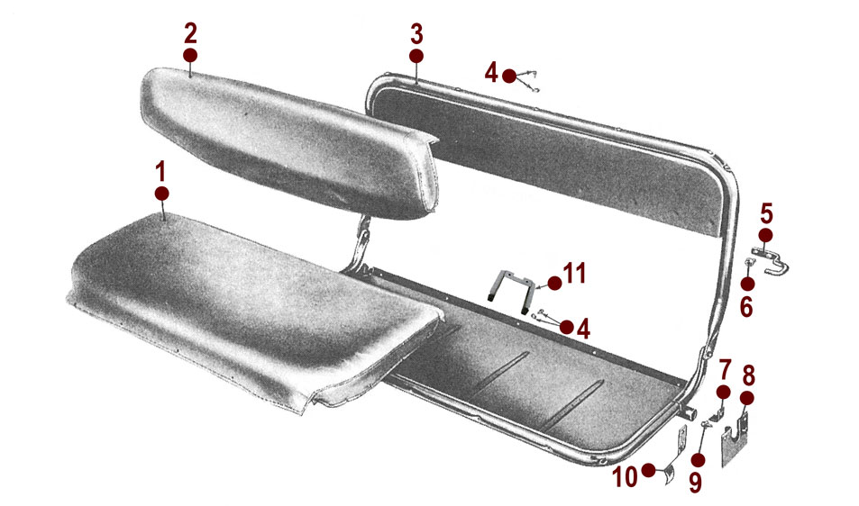 rear seat 50 52 m38item has been added to your cart! rear seat