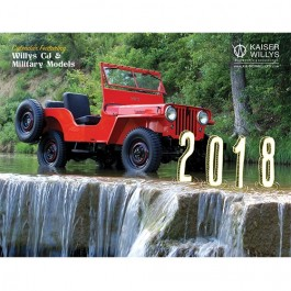 2018 Kaiser Willys Calendar For  Willys & Jeep CJ and Military Vehicles