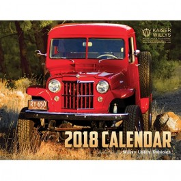 2018 Kaiser Willys Calendar For  Willys & Jeep Utility Vehicles