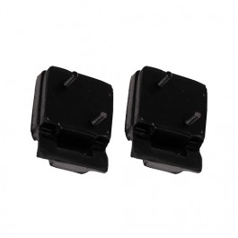 Black Polyurethane Engine Mount, Pair  Fits  76-86 CJ with V8 AMC