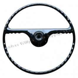 Black Steering Wheel  Fits  50-64 Truck, Station Wagon, Jeepster