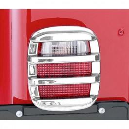 Tail Light Guards in Chrome  Fits  76-86 CJ