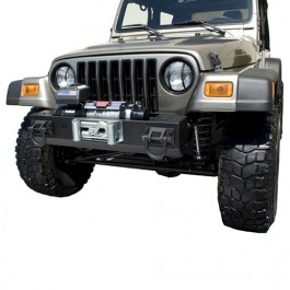 XHD Front Bumper with Winch Mount in Textured Black     Fits 76-86 CJ