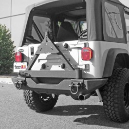 Rugged Rige Tire Carrier Add On For XHD Rear Bumper  Fits  76-86 CJ