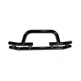 Front Tube Bumper with Winch Cutout in Black  Fits  76-86 CJ