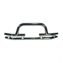 Front Tube Bumper with Winch Cutout in Stainless  Fits  76-86 CJ
