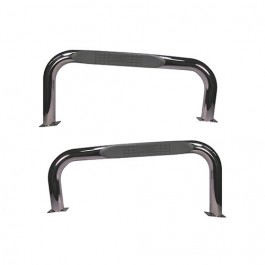 3 Inch Round Side Tube Steps in Stainless  Fits  76-86 CJ-7