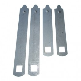 Rear Leaf Spring 4-Pack Clamp Kit (9 leaf - 2 required) Fits 41-64 MB, GPW, CJ-2A, 3A, 3B, M38