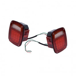 LED Tail Light Set,  Fits  76-86 CJ