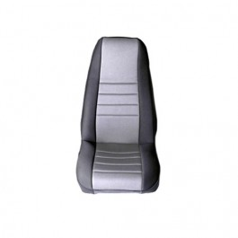 Neoprene Front Seat Covers in Gray  Fits  76-86 CJ