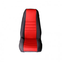 Neoprene Front Seat Covers in Red  Fits  76-86 CJ
