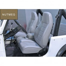 High-Back Front Seat, Reclinable in Nutmeg  Fits  76-86 CJ