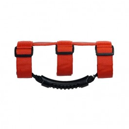 Ultimate Grab Handles in Red,  Fits  76-86 CJ