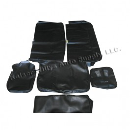 Quilted Vinyl Seat Cover Set for All 4 Seats  Fits  48-64 Station Wagon