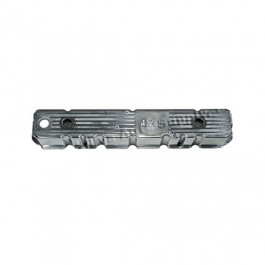 Aluminum Polished Valve Cover with 4.2L Logo  Fits  81-86 CJ with 6 Cylinder