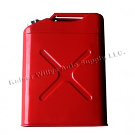 Replacement Jerry Can with 5 gallon capacity in Gloss Red  Fits  All Jeep Vehicles