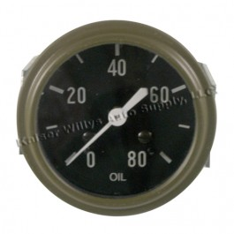 Instrument Panel Oil Gauge (made in USA)  Fits  41-45 MB, GPW