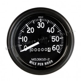 Complete Speedometer Assembly 0-60 MPH  Fits  46-64 CJ-2A, 3A, 3B