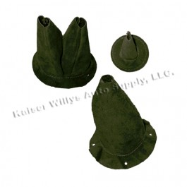 New 3 Piece Leather Boot Kit (OD Green) Fits : 41-45 MB, GPW