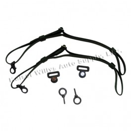 US Made Door Safety Strap Kit (pair) Fits  41-71 Jeep