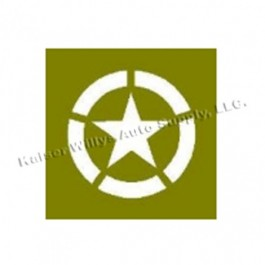 Paint Mask Stencil w/20 Diameter Star Broken Invasion Circle Fits 41-71 Jeep & Willys