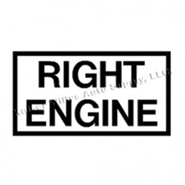 New Right Engine Decal Fits  41-71 Jeep & Willys