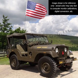 Olive Drab Green Semi Gloss Paint (SAMPLE) Fits 41-71 Jeep & Willys