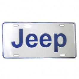 Jeep License Plate in Block Script (Blue) Fits  41-71 Willys and Jeep
