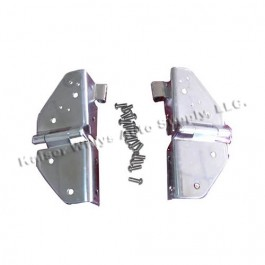 Windshield Hinges in Stainless  Fits  76-86 CJ