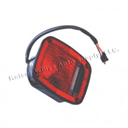 Driver Side Tail Lamp in Black  Fits  76-80 CJ