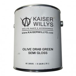 Olive Drab Green Semi Gloss Paint (1 Gallon) Fits 41-71 Jeep & Willys (paint code 2430)