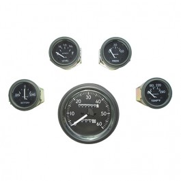 Complete Speedometer Assembly and Gauge Kit (24 Volts - 0-60) Fits 50-66 M38, M38A1 (douglas, metal connections)