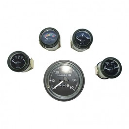 Complete Speedometer Assembly and Gauge Kit (24 Volts) Fits 50-66 M38, M38A1 (packard, rubber connections)