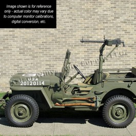 Olive Drab Green Flat Paint (SAMPLE) Fits 41-71 Jeep & Willys