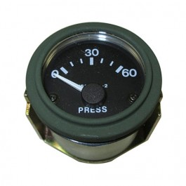 New Instrument Panel Oil Gauge (24 volt) Fits 50-66 M38, M38A1 (packard, rubber connections)