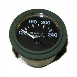 New Instrument Panel Temperature Gauge (24 volt) Fits 50-66 M38, M38A1 (packard, rubber connections)