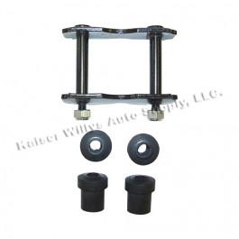Front Spring Shackle Kit with Bushings  Fits  76-86 CJ