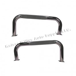 Nerf Bars in Stainless Steel  Fits  76-86 CJ