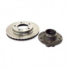 Front Wheel Hub and Rotor with 7/8 Inch Thick Rotor, 6 Bolt Hub  Fits  78-81 CJ