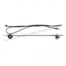 Side Mount Radio Antenna Kit  Fits : 41-71 Jeep & Willys