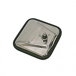 Square Mirror Head in Stainless  Fits  76-86 CJ