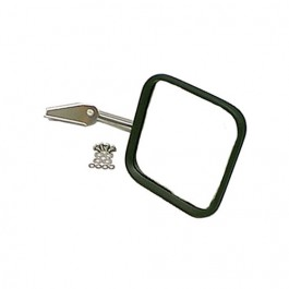 Passenger Side Mirror and Arm with Convex Glass in Stainless  Fits  76-86 CJ