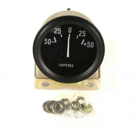 Instrument Panel Ammeter Gauge (6 or 12 volt)  Fits 41-66 MB, GPW, CJ-2A, 3A, 3B, M38, M38A1