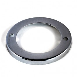 Chrome Parking Light Bezel  Fits  46-53 CJ-2A, 3A