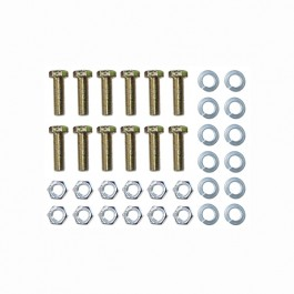 Rear Brake Backing Plate to Axle Flange Hardware Kit Fits  43-66 MB, GPW, CJ-2A, 3A, 3B, M38, Station Wagon